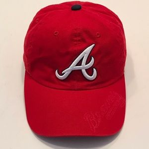 New Era Atlanta Braves Red Adjustable Baseball Hat